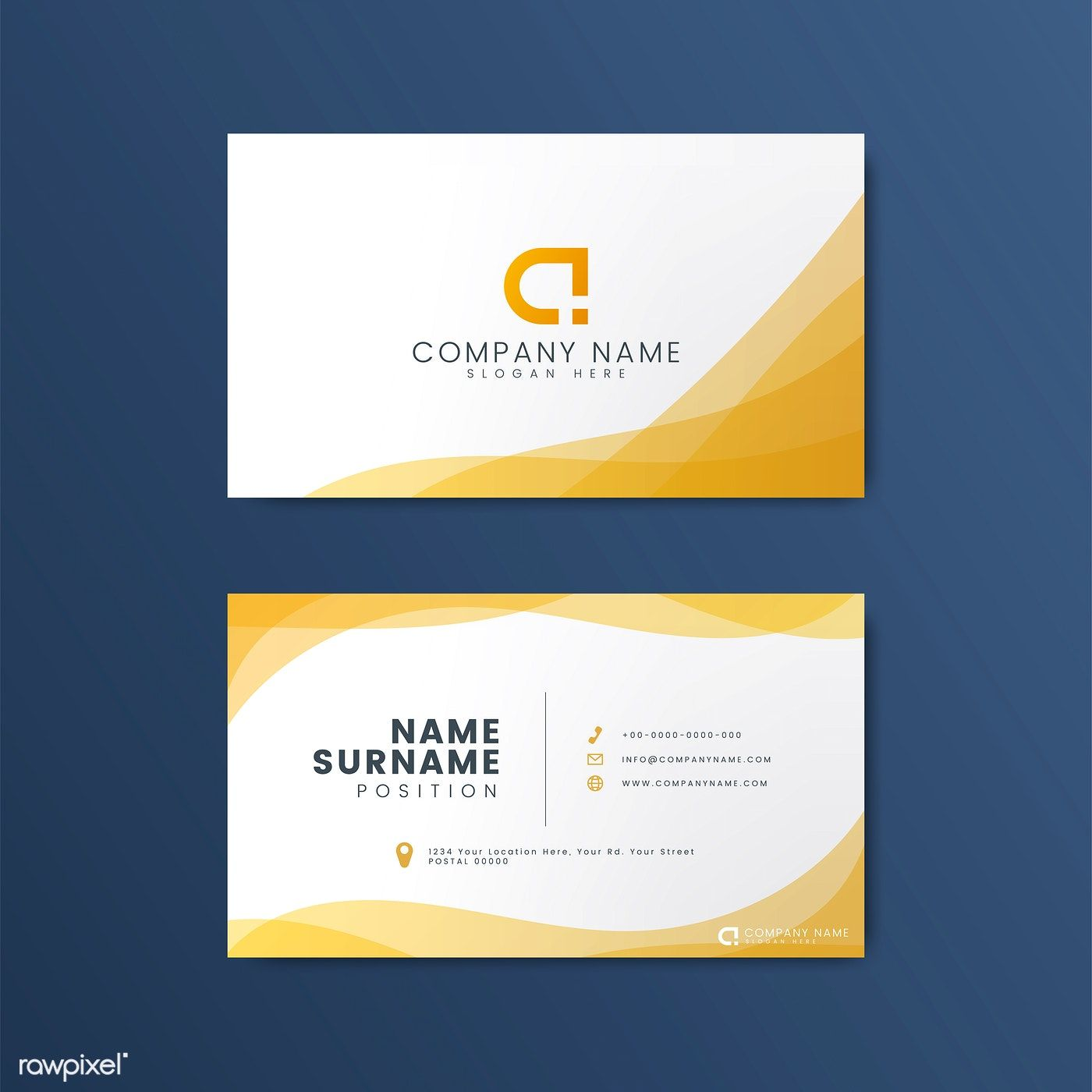Modern Geometric Business Card Design Free Image By Rawpixel Com Free Business Card Design Business Card Design Business Card Design Minimal