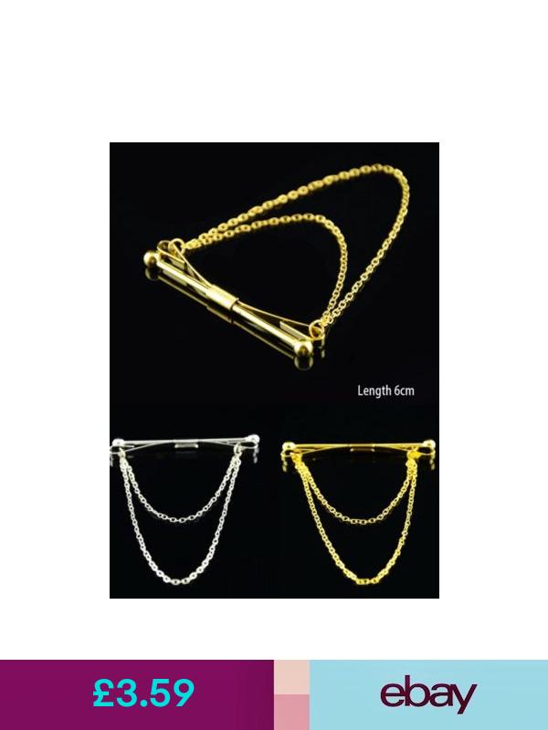 Stylish Men Silver Gold Shirt Collar Clip Bar Pin Clip