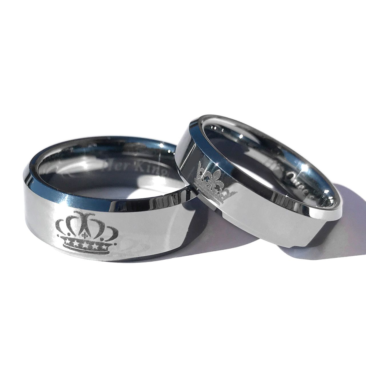 efe889b4a0b King and Queen Silver Tungsten Ring Set in 2019 | my love | King ...