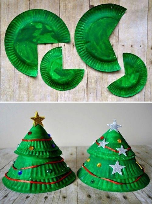 60 weihnachtliche Ideen zum Basteln mit Pappteller für Kleinkinder