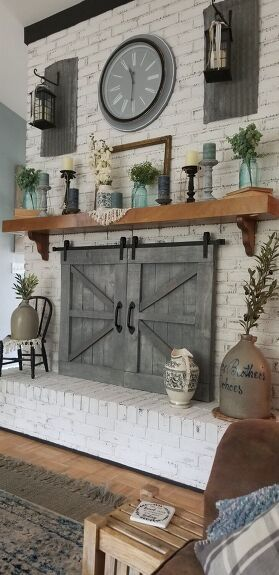 Photo of How to Make Barn Doors for Our Fireplace DIY