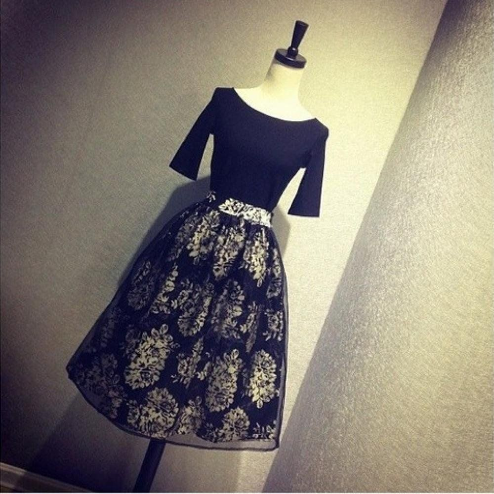 Women S Limited Fluffy Skirt Dress Vintage Printing At Amazon Women S Clothing Store High Waist Fashion Long Skirts For Women Dresses