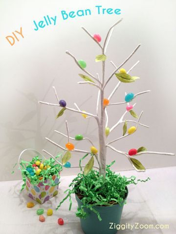 Diy Jellybean Tree Project All Things Parenting Pinterest