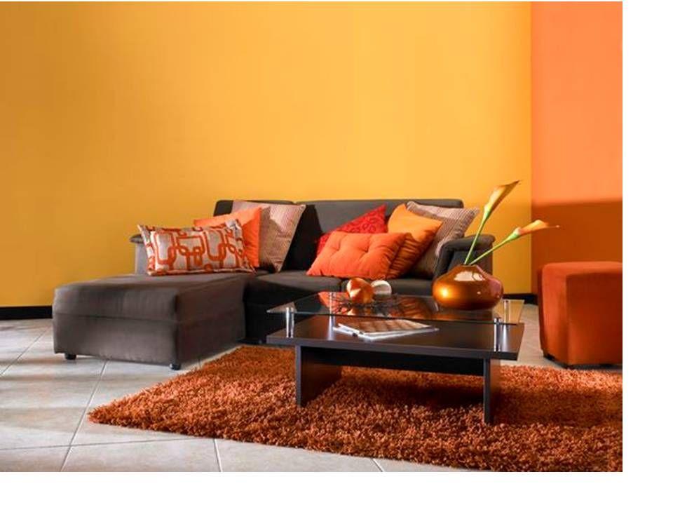 Dise os de salas color naranja dise os que por su color naranja son modelos interesantes - Elegir pintura para interiores ...