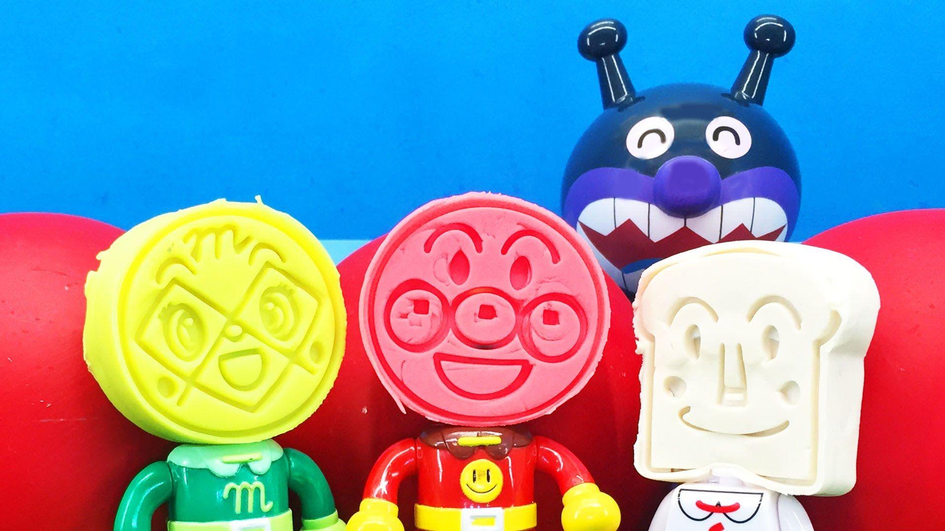 アンパンマン おもちゃアニメ ねんど遊び ねんどの顏から何が出るかな anpanman minitoys stopmotion clay play アンパンマン おもちゃ クリスマス オーナメント おもちゃ