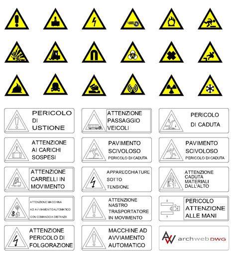 Cartelli di sicurezza dwg 626 simboli dwg simboli for Cartelli antincendio dwg