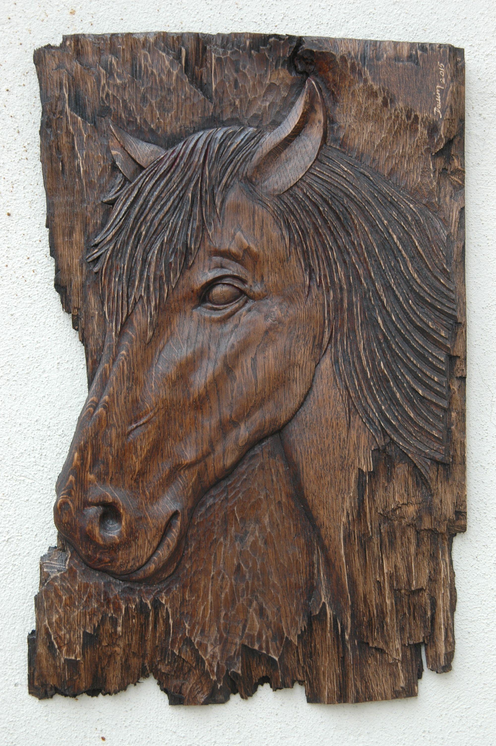 Relief horse wood carving ahşap oyma devrİm erakalin