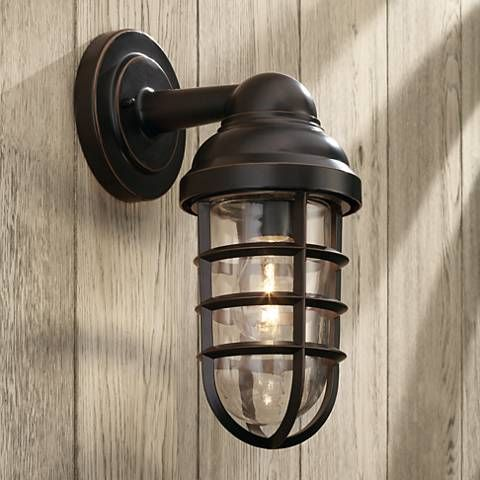 Marlowe bronze 13 14 high metal cage outdoor wall light style marlowe bronze 13 14 high metal cage outdoor wall light 8f958 mozeypictures Choice Image