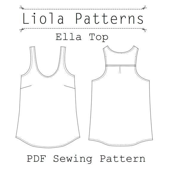 Ella Top PDF Sewing Pattern | Sewing | Pinterest | Pdf sewing ...