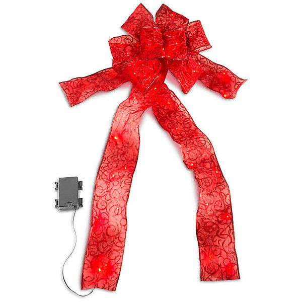 """Improvements Lighted Christmas Bow-4"""" ($37) ❤ liked on Polyvore featuring home, home decor, holiday decorations, christmas, 4 lighted christmas bow, christmas bow, christmas decorations, christmas ribbon, christmas tree decorations and indoor christmas decor"""
