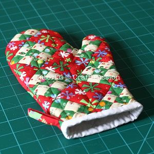 Quilted Oven Mitt - Free Sewing Pattern | Craft Pa
