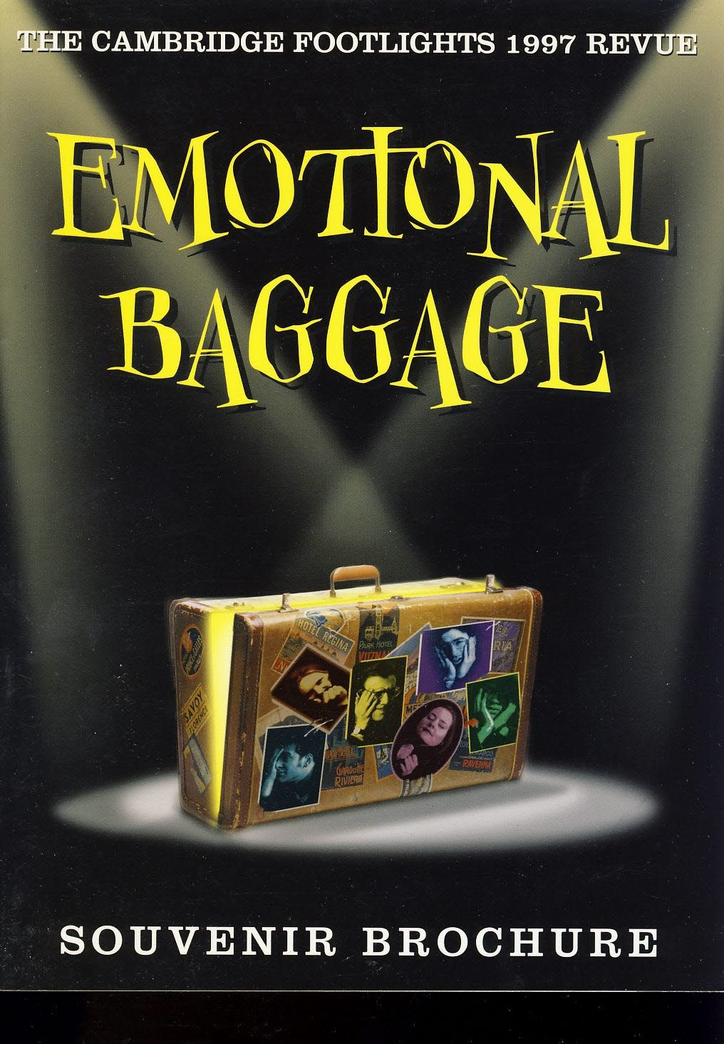 1997 Cambridge Footlights EMOTIONAL BAGGAGE Souvenir Brochure b1055,1997 Cambridge Footlights EMOTIONAL BAGGAGE Souvenir Brochure b1055. Theatre Programme is in Very Good Used Condition. Please see photo and read full description. Measures approx 17cm x 24cm., #TheatreProgrammes