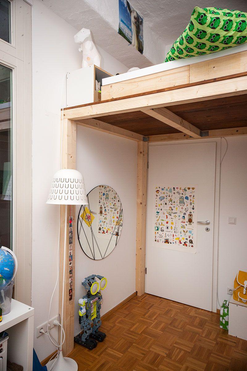 Hochbett mit rutsche selber bauen  Ein Hochbett selber bauen - DIY Anleitung | Hochbett selber bauen ...