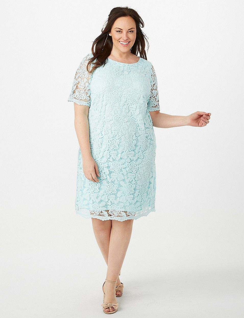 Plus Size Crochet Lace Sheath Dress | dressbarn | My Style ...