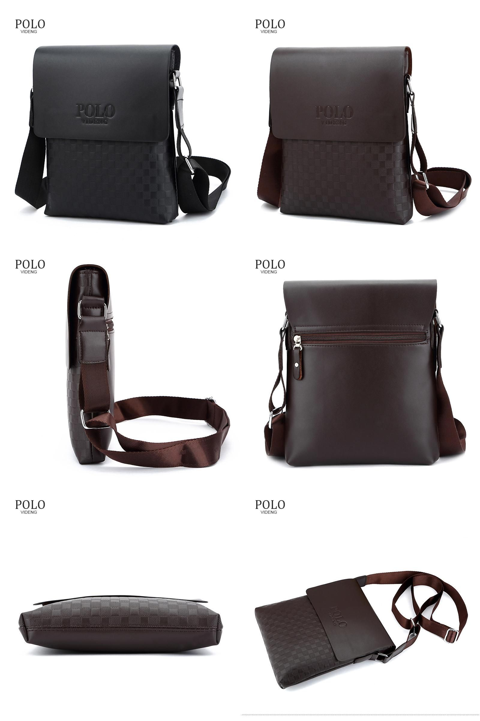 Visit to Buy  Classical Designer Videng POLO Bags Hot Sale Men Bags PU  Leather 87c2e23bc2