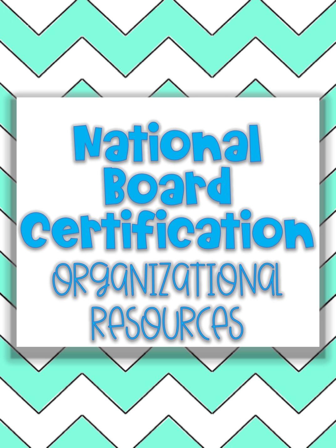 National Board Certification Organizational Resource Teacher