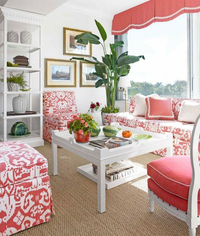 Dekoration aus Korallfarben für die Wohnung 22 Beispiele