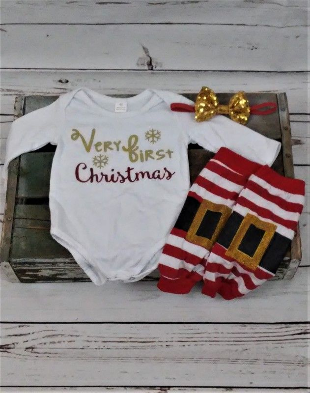 4ff6287a599 Very First Christmas Outfit