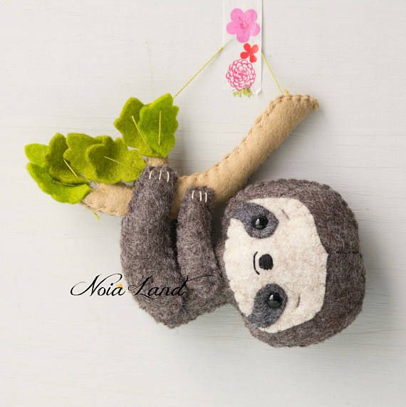 Sloth: mom and baby  (PDF Pattern) #instructionstodollpatterns