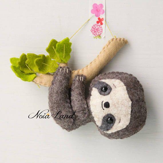 Sloth: mom and baby (PDF Pattern) #instructionstodollpatterns