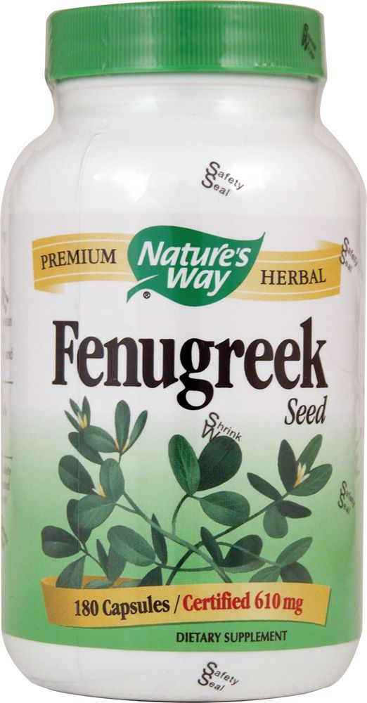 Natures Way Fenugreek Seed -- 610 Mg - 180 Vegetarian Capsules  Pregnancypost -3608