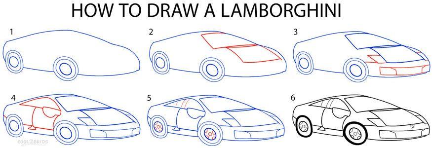 Cara Menggambar Mobil Lamborghini