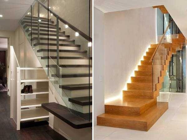 Интерьер лестницы на второй этаж в частном доме фото