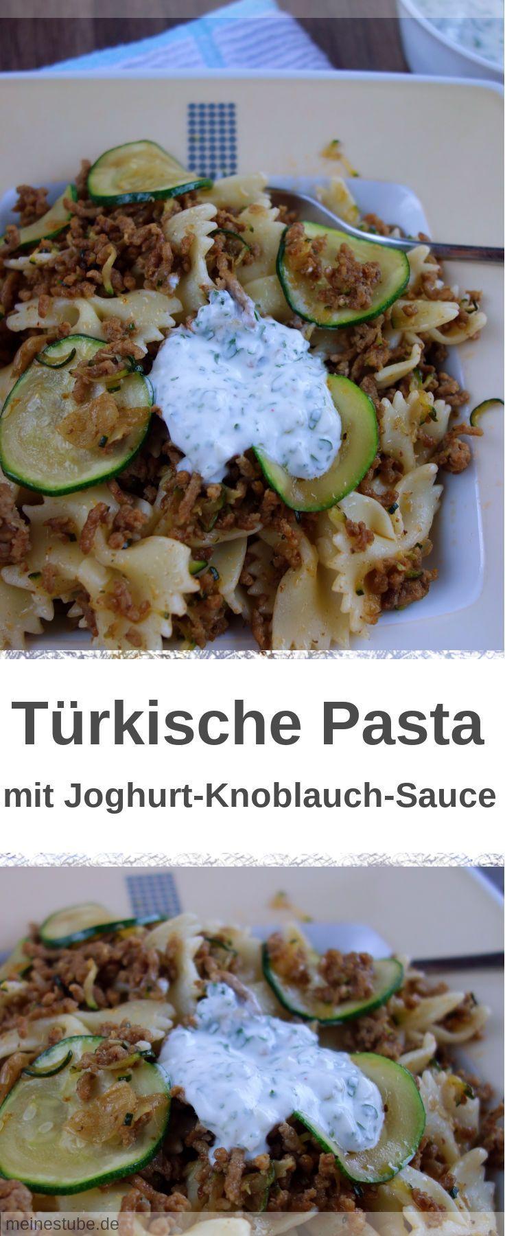 Türkische Pasta mit Joghurt-Sauce #zucchininoodles