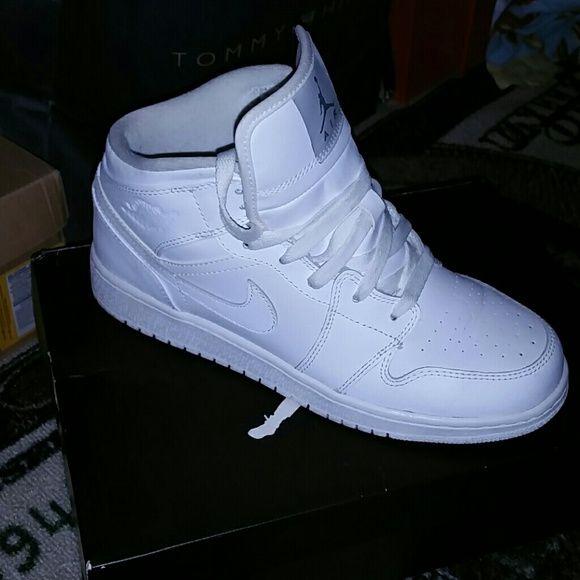 Jordan | White jordan shoes, All white