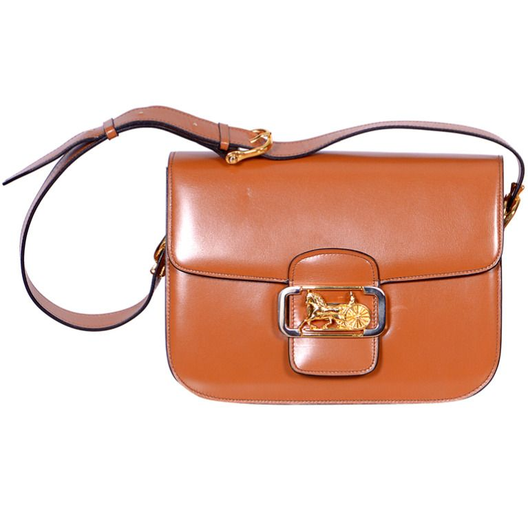 Vintage Celine Box Shoulder Bag From A Collection Of Rare Handbags And Purses At