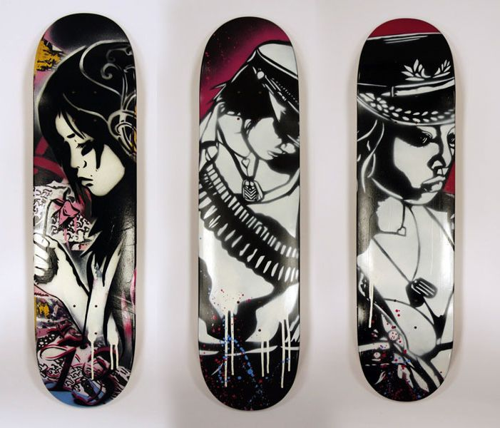 100 crazy skateboard designs abduzeedo graphic design inspiration and photoshop tutorials - Skateboard Design Ideas