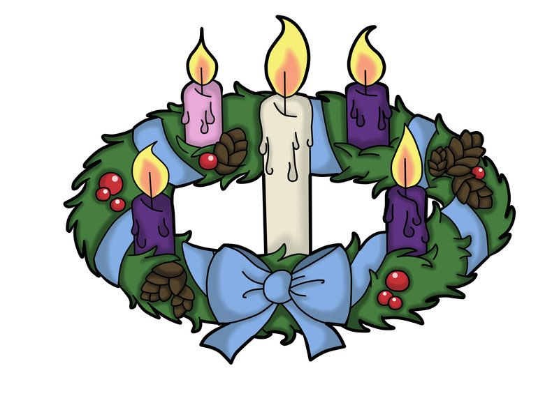 advent wreath by the black clover clipart advent pinterest rh pinterest com advent wreath images clip art advent wreath clip art free