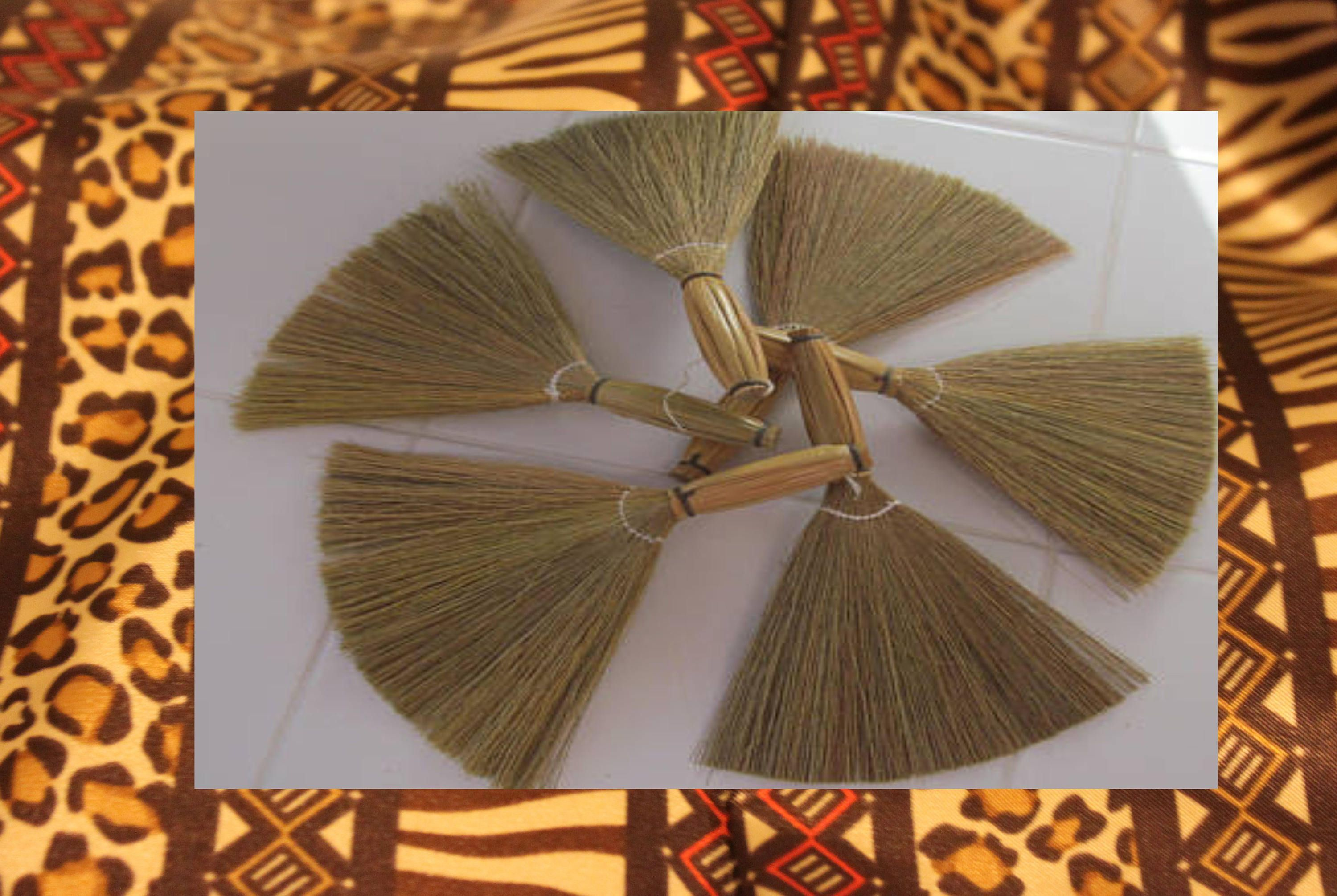 African Mini Brooms for Wedding Favors - Set of 6 | Broom Favors | Broom Dolls | Mini Jump The Broom