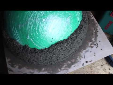 Amazing Wood Fired Pizza Oven made over a gym ball using Vermiculite and cement mix YouTube