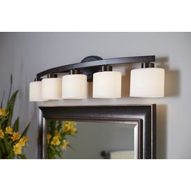 allen roth merington 5 light 37 5 in aged bronze vanity light at rh pinterest com