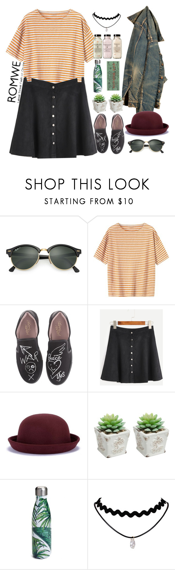 """""""Untitled #112"""" by mariana-fifi-cardoso ❤ liked on Polyvore featuring Ray-Ban, Toast, Vivienne Westwood and S'well"""