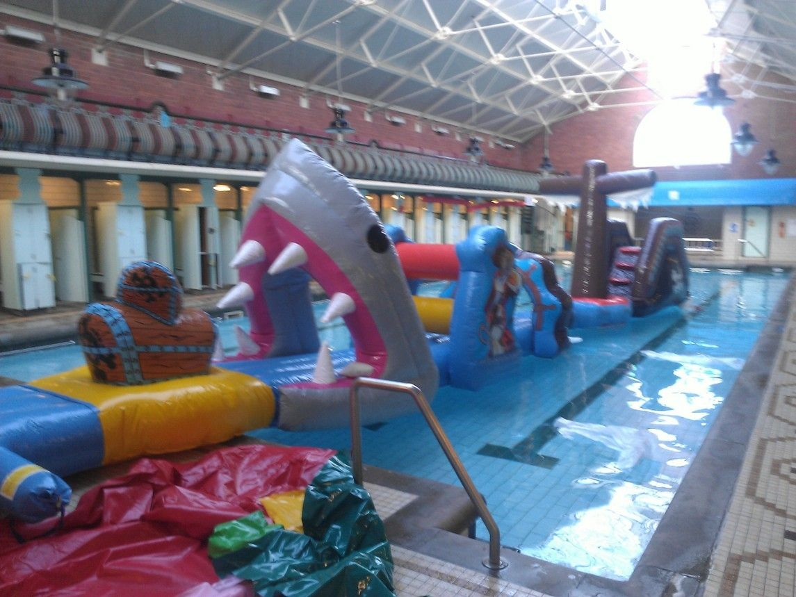 Bramley Baths Shark Attack #inflatables #Swimming #pools | Pool Time ...