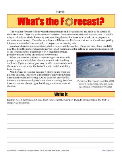Sixth Grade Reading Comprehension Worksheet Teaching Ideas