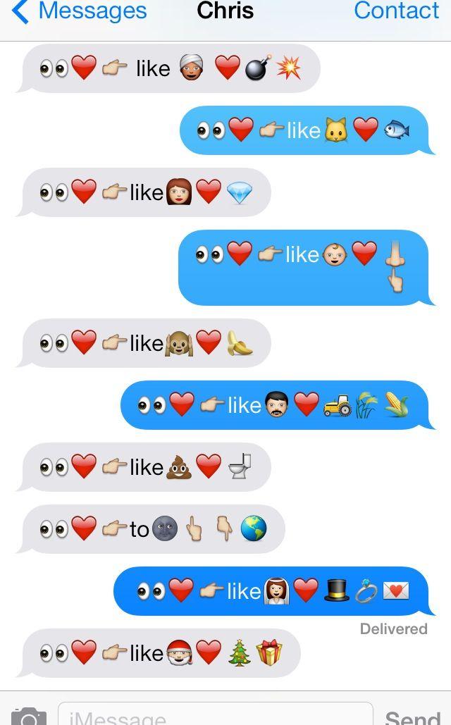 How to say i love you using emoji