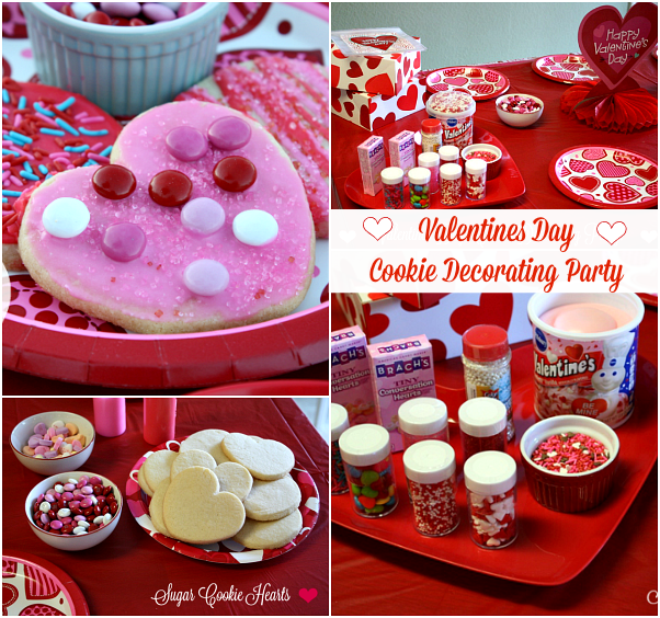 Valentines Day Cookie Decorating Party by Mommy's Kitchen. With a simple sugar cookie recipe, a variety of frosting, and colorful sprinkles, you can host an affordable and stylish Valentine Cookie Decorating Party!!! #valentinesday #cookieparty #spon #hearts #mommyskitchen #kidsbaking #kids #Kidfriendly