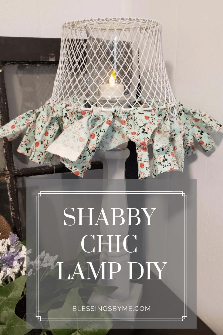 Photo of DIY Shabby Chic Lamp – Crafts & DIY – DIY On a Budget #shabbychicbedroom