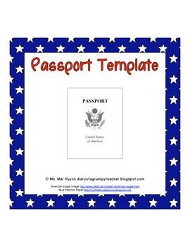 Passport Template  Passport Template Template And Sunday School