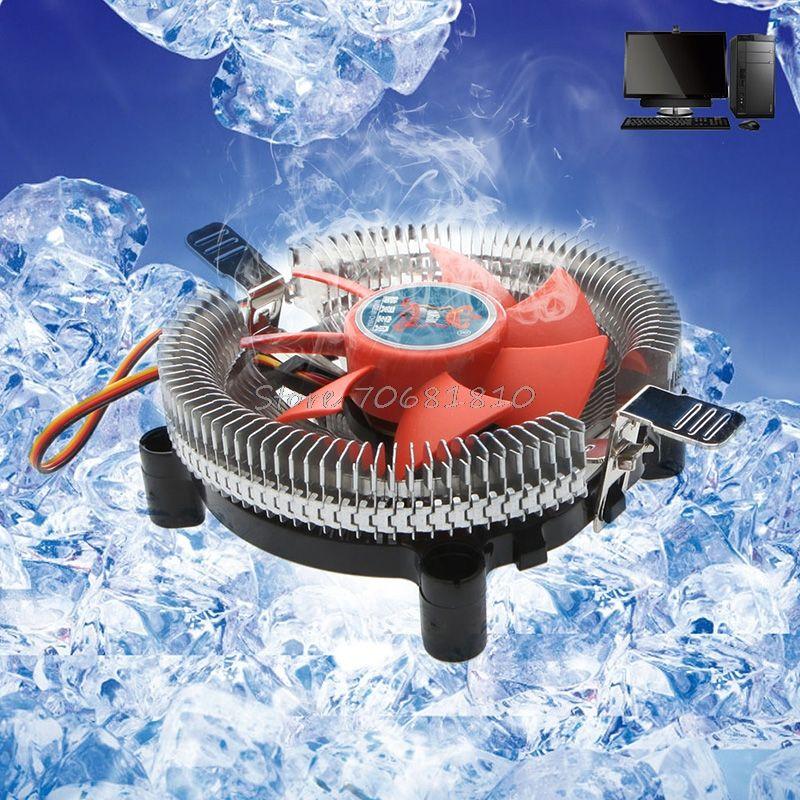 2200rpm CPU Quiet Fan Cooler Cooling Heatsink For Intel
