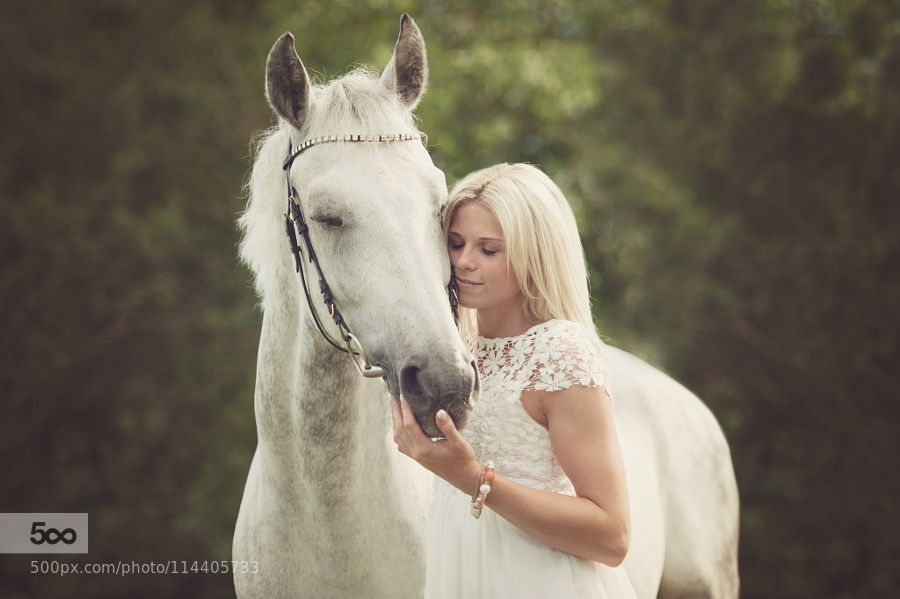 girl and her horse by KatjaOttPhotography. Please Like http://fb.me/go4photos and Follow @go4fotos Thank You. :-)