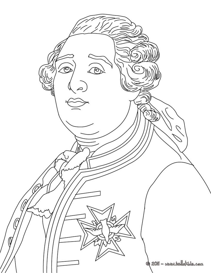 Louis Xvi King Of France Coloring Page Cc Cycle 2 Week 11 Com