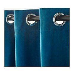 ikea sanela gardinenpaar die gardinen aus schwerem stoff schirmen licht effektiv ab und. Black Bedroom Furniture Sets. Home Design Ideas