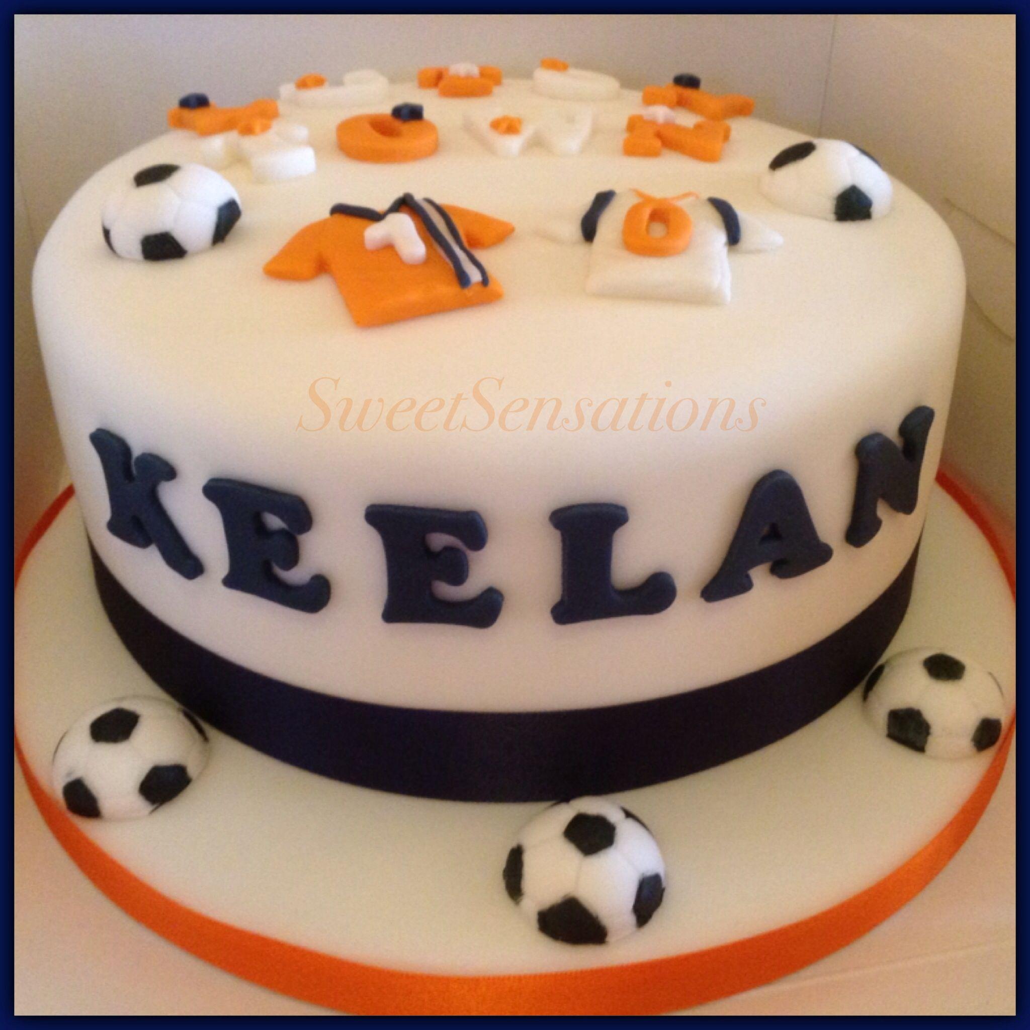 Luton Town Football Cake