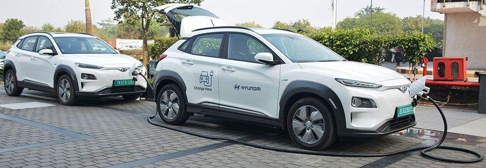 Hyundai Kona Electric Can Now Be Fast Charged 15 Ev Dealers Offers Ac 7 2kw Charging Facility Hyundai Hyundai Motor Facility