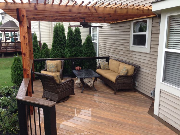 timbertech legacy deck pergola dublin oh lr yard pinterest