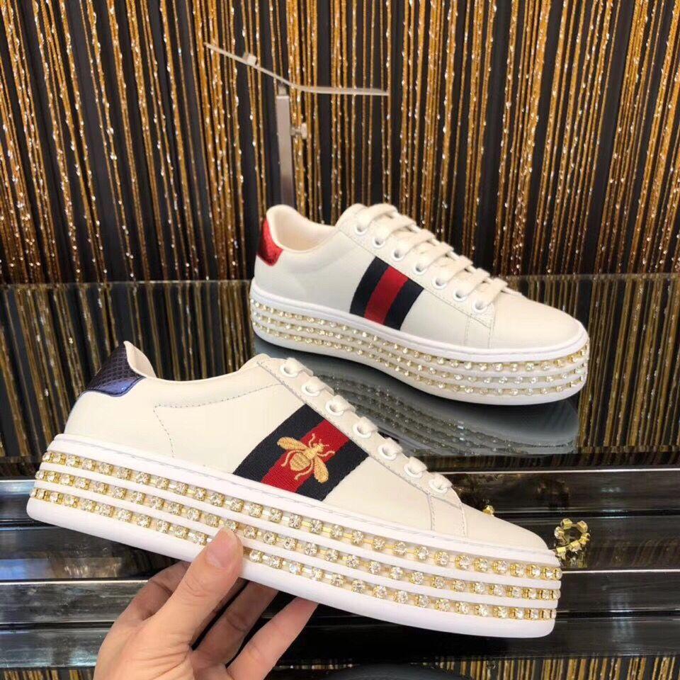 882f2fad6 Platform diamond Gucci sneaker #gucci #sneaker #guccishoes #shoe #acesneaker